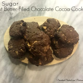 Low Sugar Peanut Butter Filled Chocolate Cocoa Cookies