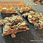 bars, 4 ingredients, healthy, oatmeal, peanut butter, chocolate