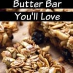 Easy Four Ingredient Oatmeal Peanut Butter Bar