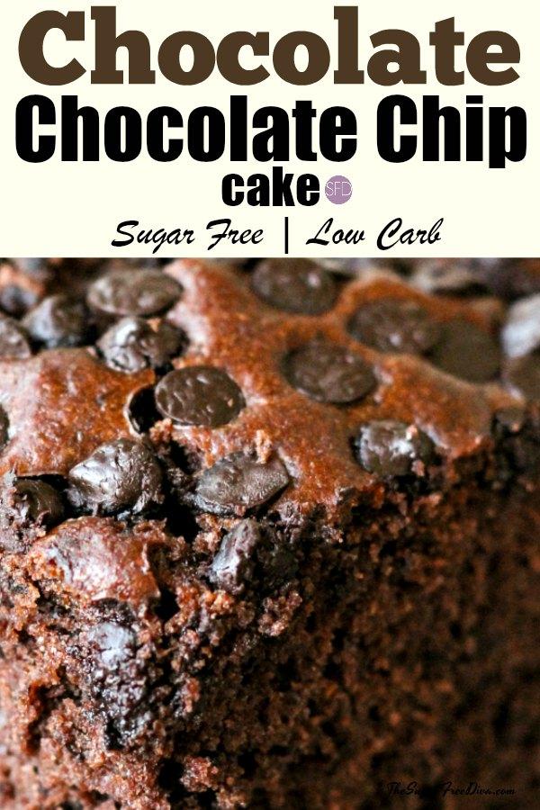Sugar Free Chocolate Chunk Cocoa Cake