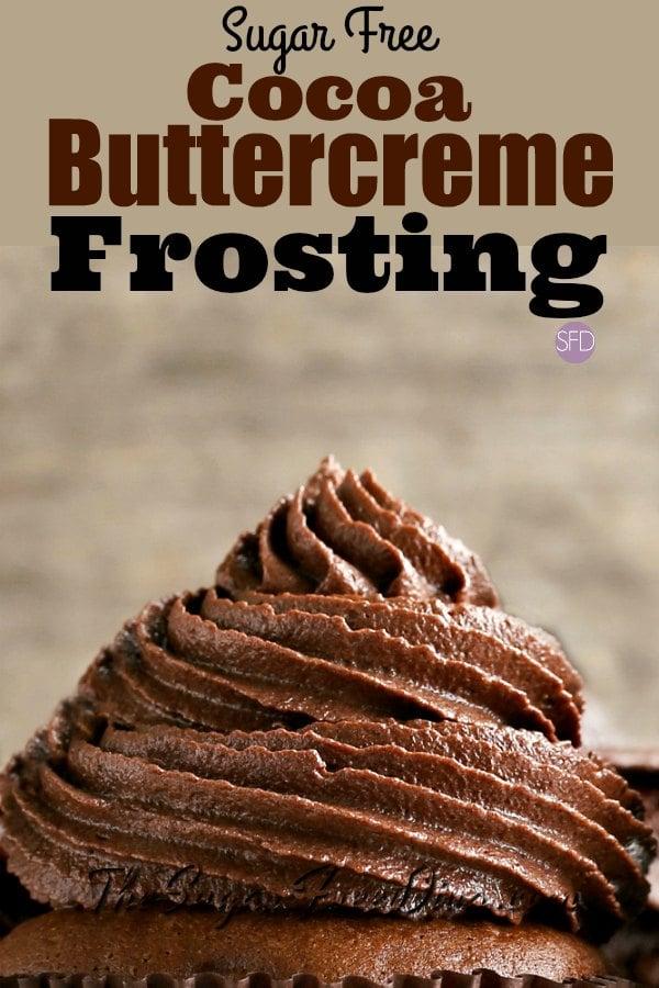 Sugar Free Cocoa Buttercream Icing