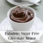 Fabulous Sugar Free Chocolate Mouse