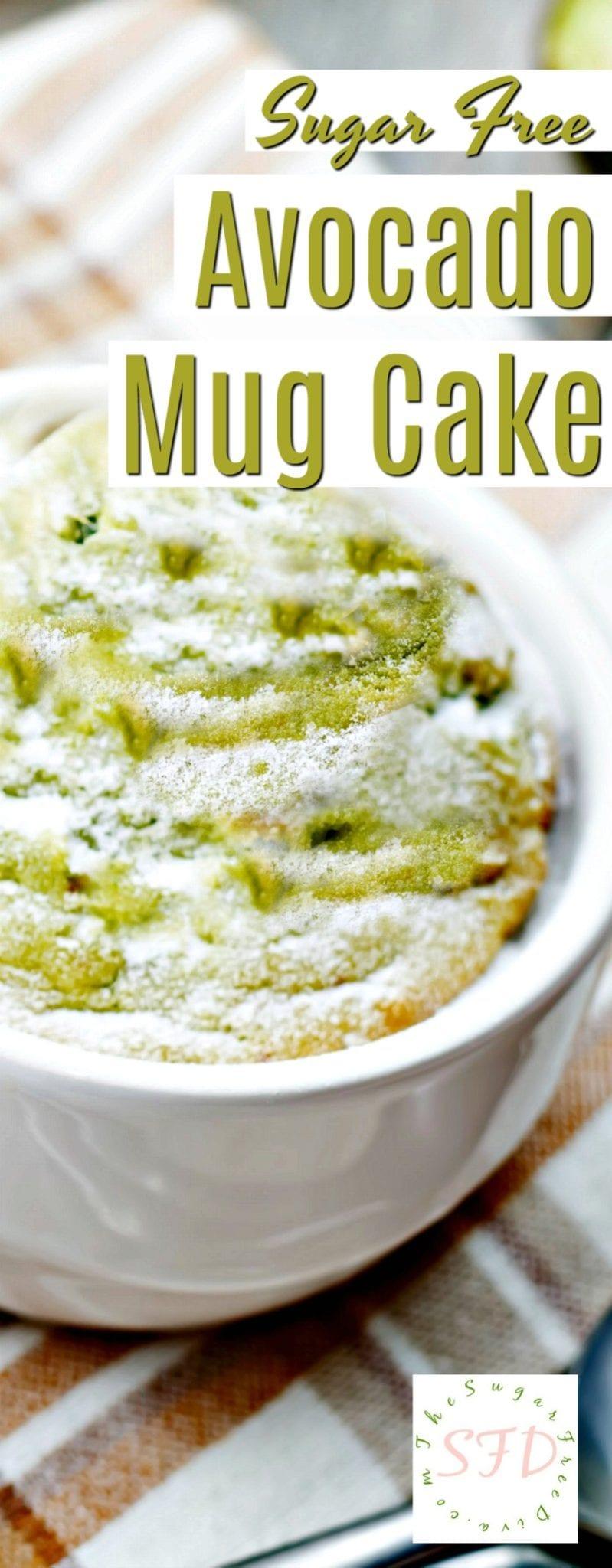 Sugar Free Avocado Mug Cake