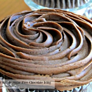 Super Simple Sugar Free Chocolate Icing