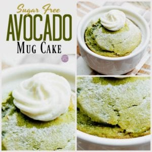 Sugar Free Avocado Mug Cake