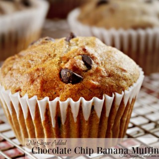 Chocolate Chip Banana Muffins With No Added Sugar