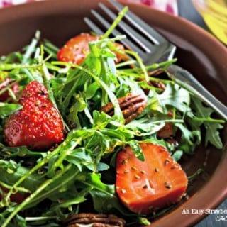 An Easy Strawberry Vinaigrette Salad