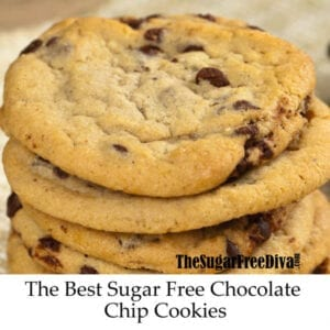 The Best Sugar Free Chocolate Chip Cookies