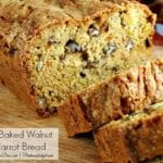 Fresh Baked Honey Walnut and Carrot Bread