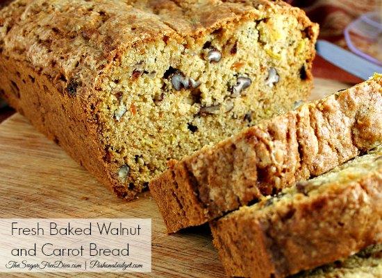 Fresh Baked Honey Walnut and Carrot Bread