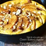 No Sugar Added Dutch Apple Pancake