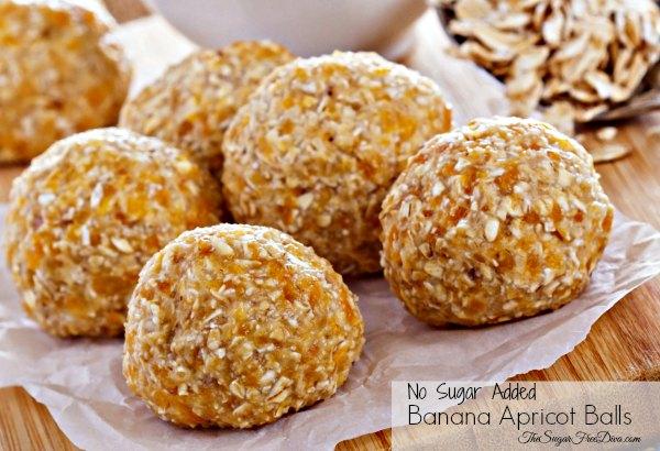 No Sugar Added Banana Apricot Balls