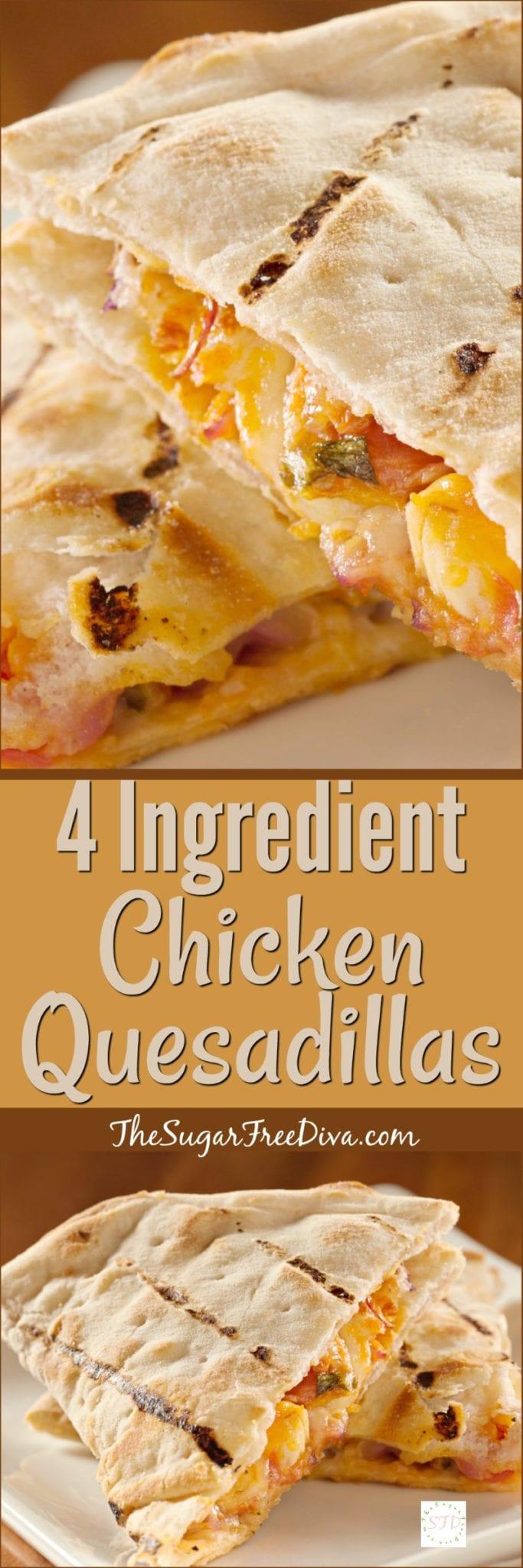 4 Ingredient Chicken Quesadillas