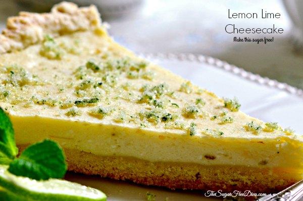 Sugar Free Lemon Lime Cheesecake