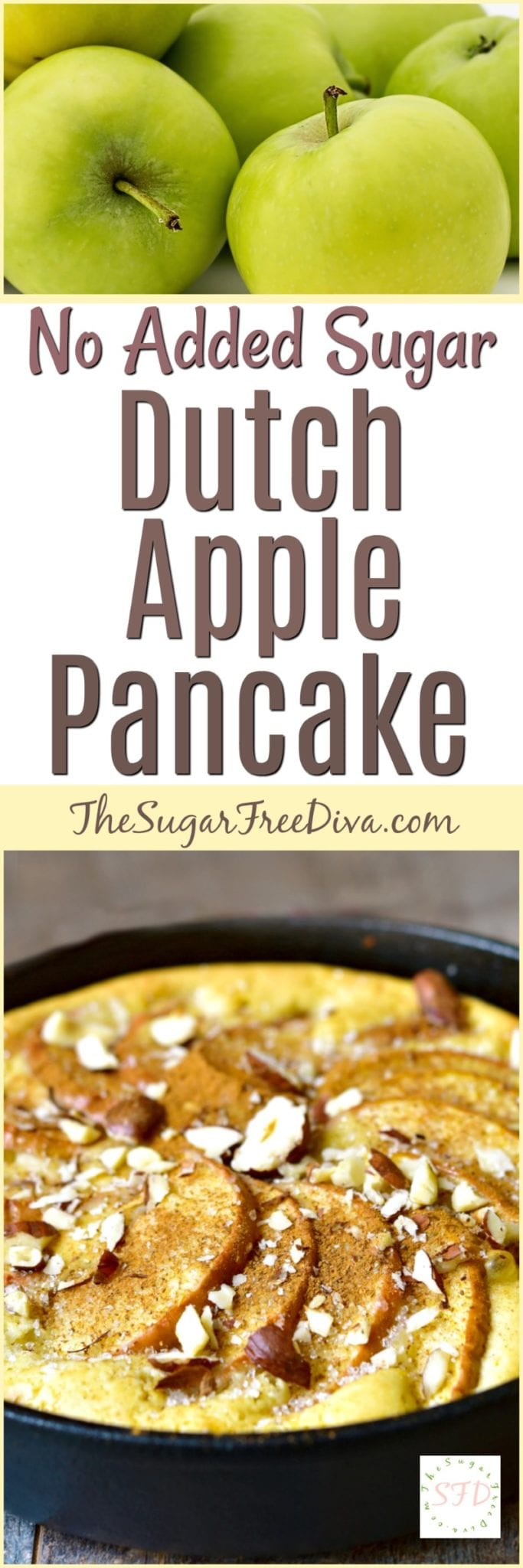 No Sugar Added Delicious Dutch Apple Pancake Recipe