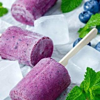Frozen Greek Yogurt Blueberry Treats