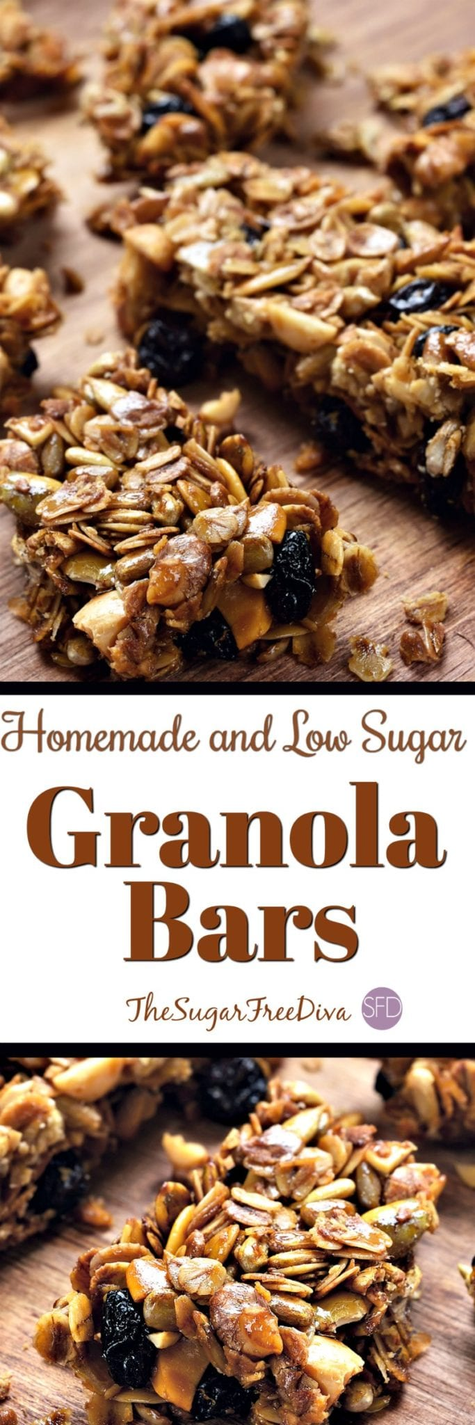 Low Sugar and Homemade Granola Bars