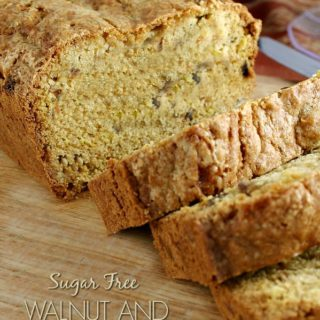 sugar free walnut carrot bread