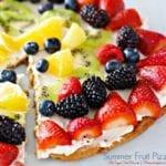 Lower Sugar Summer Fruit Pizza