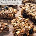 The Healthy Way to Make Granola Bars
