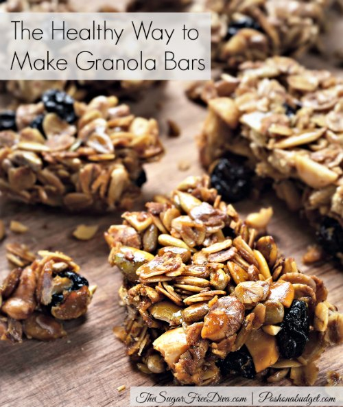 No Sugar Added Homemade Granola Bars