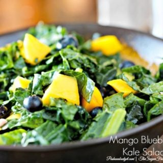 Mango Kale Salad with Honey Lemon Dressing