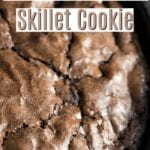 Sugar Free Double Chocolate Skillet Cookie