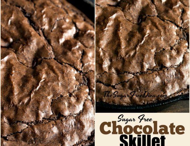 Sugar Free Chocolate Skillet Cake