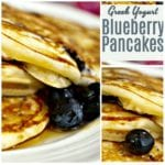 Greek Yogurt Blueberry Pancakes