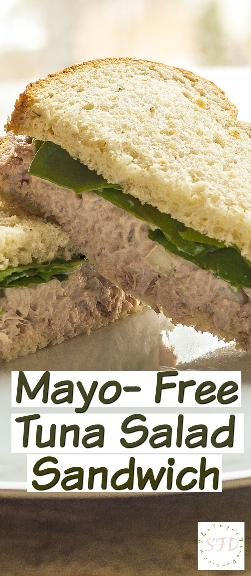 Mayonnaise Free Tuna Salad Sandwich