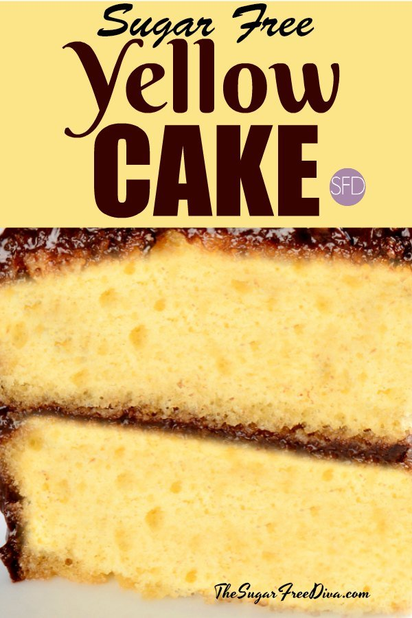 Swell A Basic And Easy Sugar Free Yellow Cake Recipe Funny Birthday Cards Online Inifofree Goldxyz