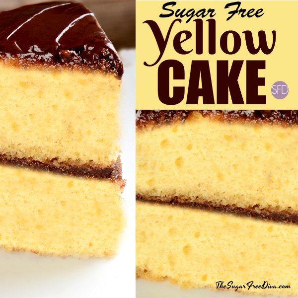Groovy A Basic And Easy Sugar Free Yellow Cake Recipe Funny Birthday Cards Online Inifofree Goldxyz