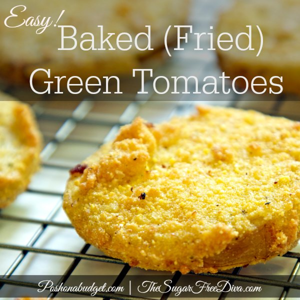 Low Carb Baked Green Tomatoes