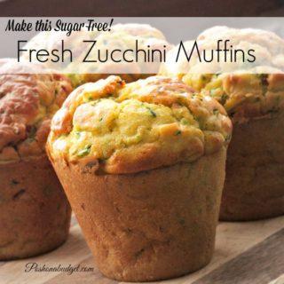 Sugar Free Homemade Zucchini Muffins