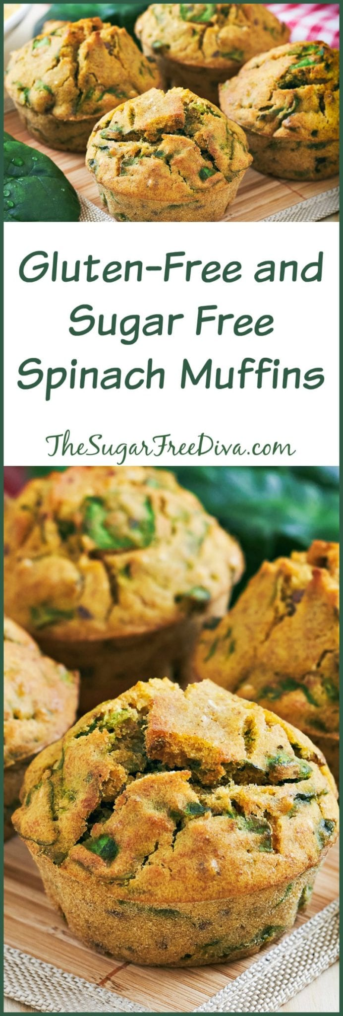 Gluten-Free and Sugar Free Spinach Muffins