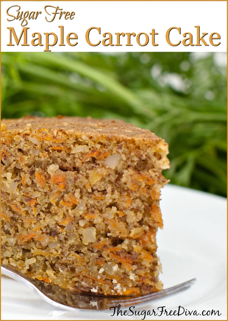 Sugar Free Maple Carrot Cake