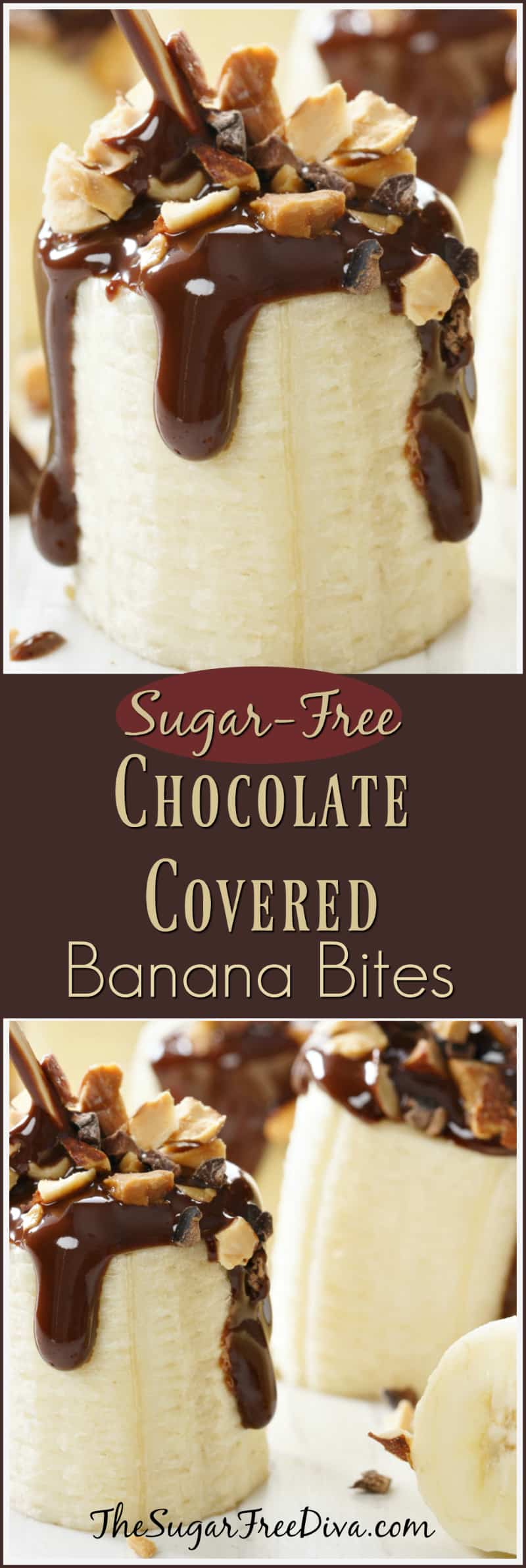 How to Make Sugar Free Chocolate Banana Bites