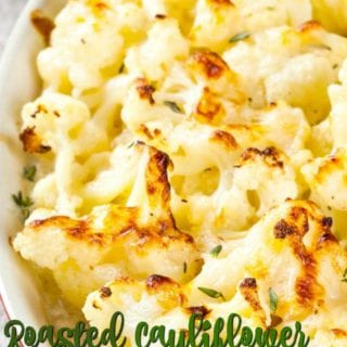 Roasted Cauliflower in Garlic Cheese Sauce