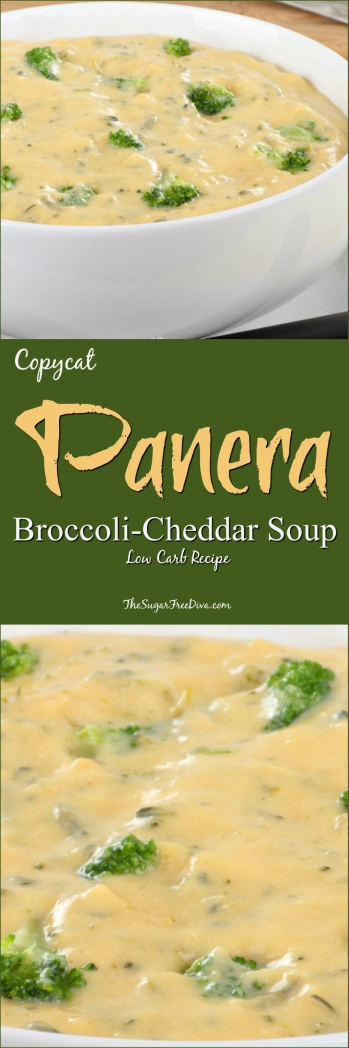 Low Carb Copycat Panera Broccoli Cheddar Soup Recipe