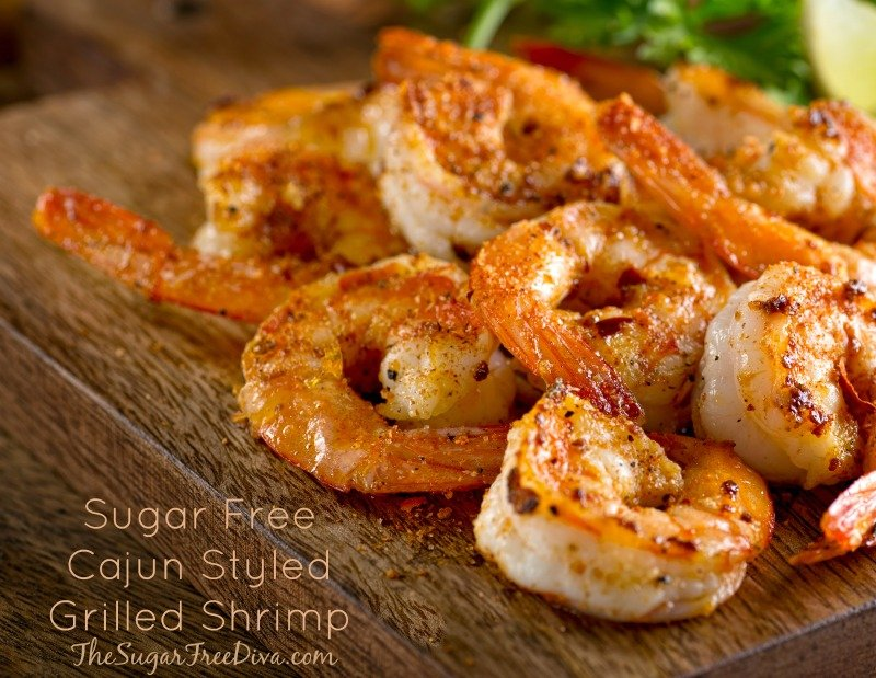 Sugar Free Cajun Styled Grilled Shrimp