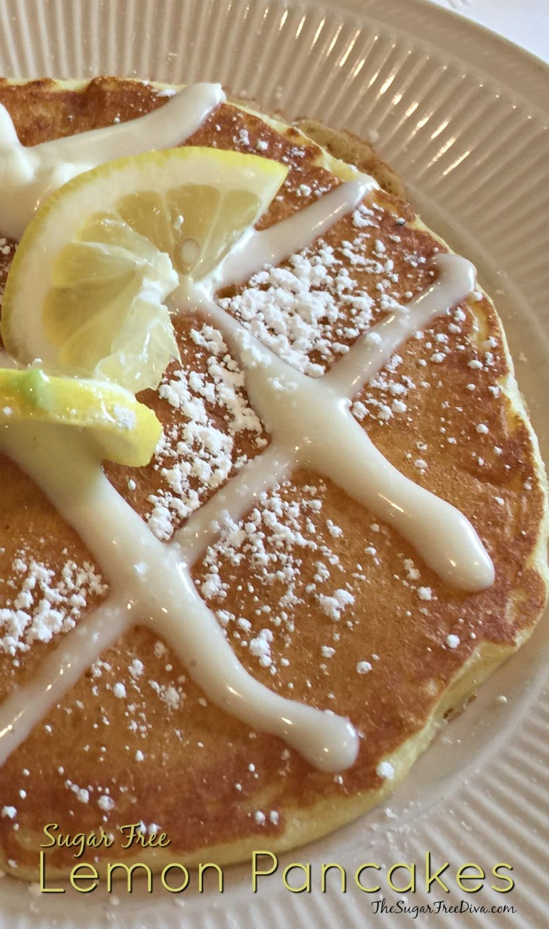 Sugar Free Lemon Pancakes