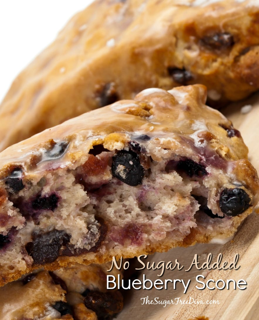 No Sugar Added Blueberry Scone Recipe