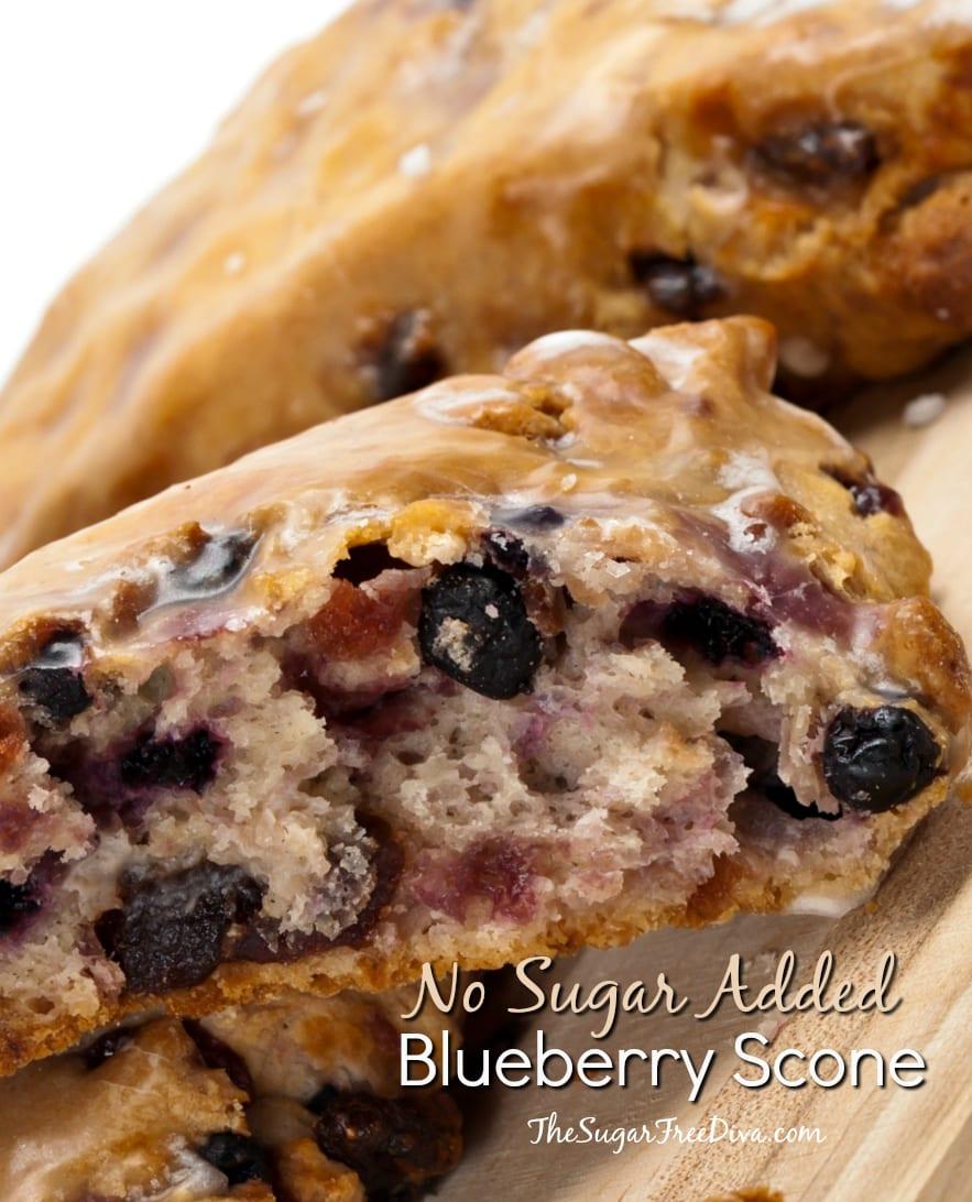 No Sugar Added Blueberry Scone Recipe