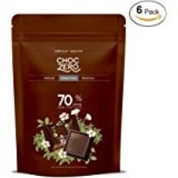 ChocZero 50% Dark Chocolate, Sugar free, Low Carb. No Sugar Alcohol, No Artificial Sweetener, All Natural, Non-GMO -