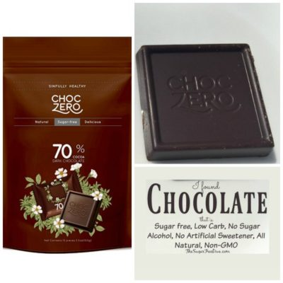 Chocolate that is  Sugar free, Low Carb, No Sugar Alcohol, etc