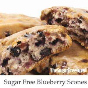 Sugar Free Blueberry Scones