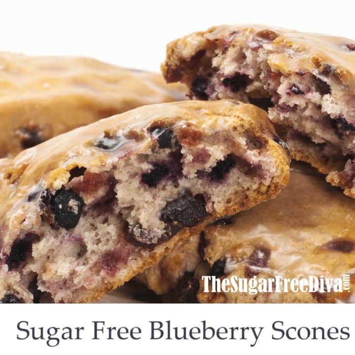 Sugar Free Blueberry Scones