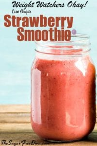 Weight Watchers Friendly Strawberry Smoothie