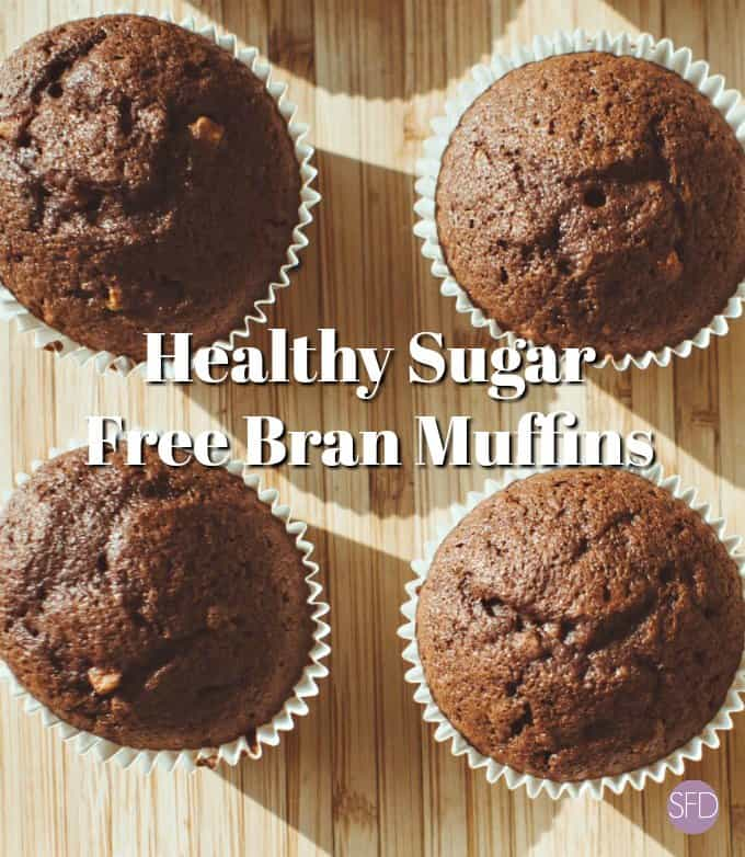 Healthy Sugar Free Bran Muffins