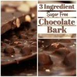 3 Ingredient Sugar Free Chocolate Bark